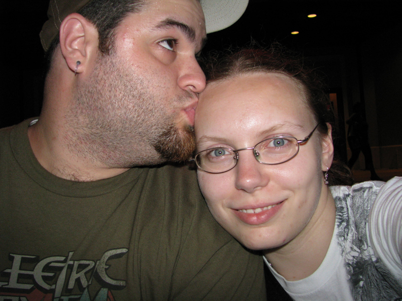 Smooching at the Hard Rock Cafe, Orlando.