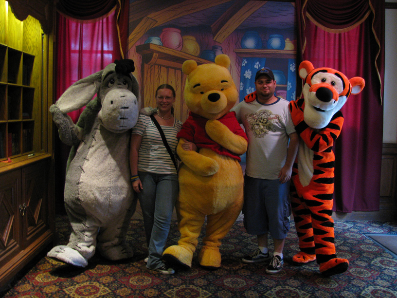 With the Hundred Acre Woods crew